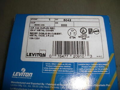 Leviton 5042 Duplex Receptacle *New In Box*
