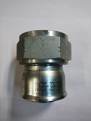 "Parker 10626-32-32 Female Swivel 2"" Jic 37º To 2"" Hose Crimp Fitting 26 Series"