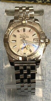 Breitling Galactic 36 Automatic A37330 Mother of Pearl Unisex Midsize Watch