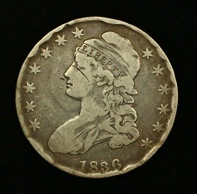 1836 Capped Bust Silver Half Dollar United States 50c Cent Coin