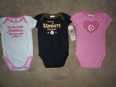 (3) Pittsburgh Steelers nfl INFANT BABY NEWBORN Jersey Shirt 18M 18 Months