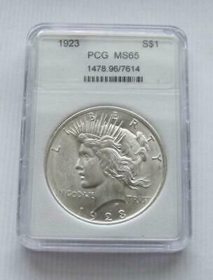 1923 Peace Silver Dollar Ms/bu Us Coin