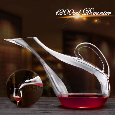 1200ml Luxurious Crystal Glass Swan Shape Wine Decanter Wine Pourer Red Wine AU