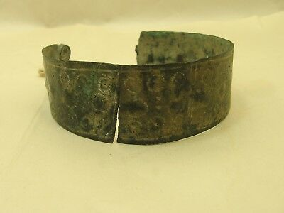 9th to 11th Century ad Viking Bronze Bracelet with Tool Work