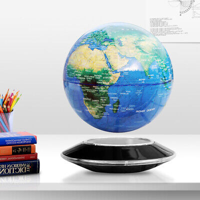 8 Inch Floating Globe Magnetic Levitation Maglev Levitating World Map LED Light