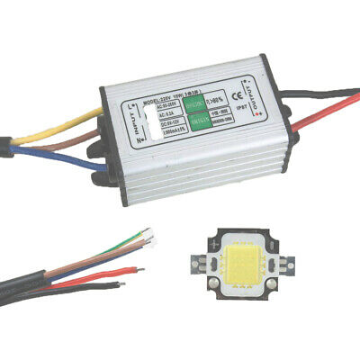 10W Waterproof Led Driver Power Supply + 10W Pure White LED SMD Chip Light
