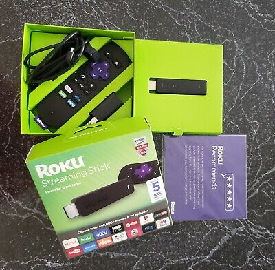 Roku Streaming Stick - 3600RW, Lightly Used, In Original Box with VUDU credit