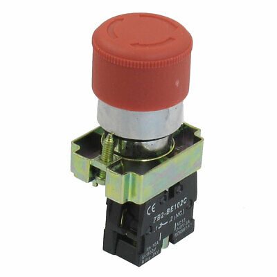 22mm 1NC Red Sign Ignition Emergency Stop Push Button Switch 600V 10A ZB2-BE102C