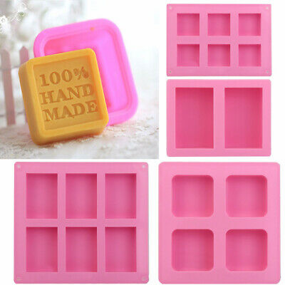 Rectangle Tray Silicone Mould Homemade Soap Mold Cake Candy Cookies Mold For DIY