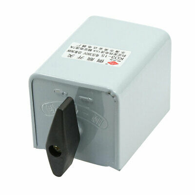 K03-15A 3P Metal Case Forward Reversing Drum Switch 15A 380V 3KW