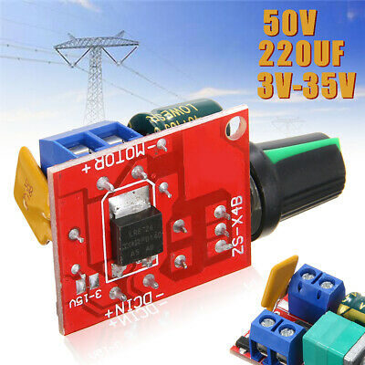 3V-35V 12V 24V PWM DC 5A Motor Speed Controller Adjustable Switch LED Fan Dimmer