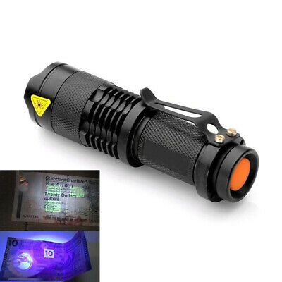 UV ULTRA VIOLET LED FLASHLIGHT PURPLE MINI BLACKLIGHT TORCH LAMP DIM LIGHT Fancy