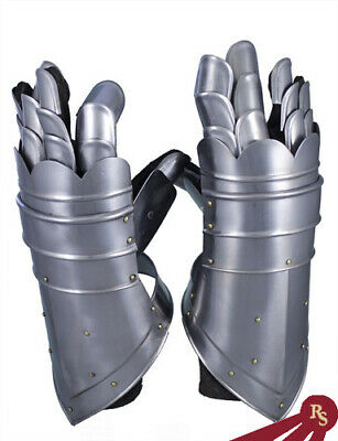 KNIGHT GAUNTLETS - Steel and Leather - MEDIEVAL COSTUME