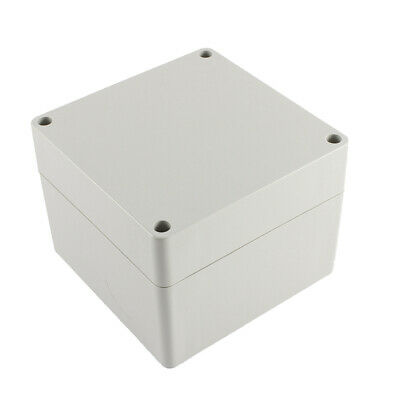 Wall Mounted Gray Plastic Electronic Project Box Enclosure Case 120 x 120 x 90mm