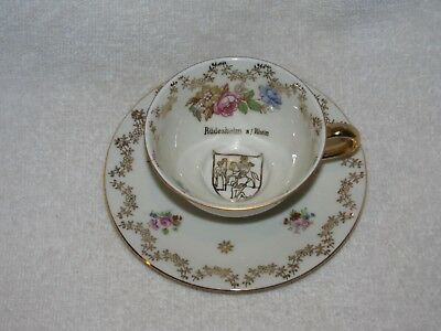 TEA CUP AND Saucer Bareuther Bavaria Germany Us Zone 40 21
