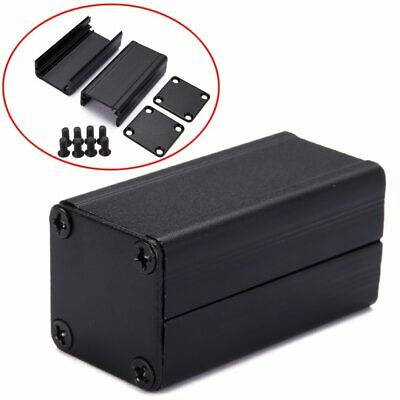 Black Aluminum Enclosure Case DIY Extruded Electronic Project Box 40x25x25mm