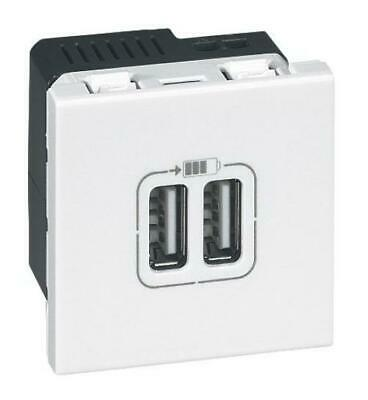 Legrand LEG99604 Prise chargeur 2 USB mosaic modules enjoliveur Blanc