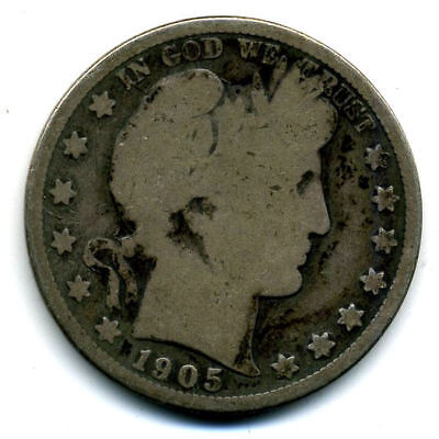 1905 S Barber Half Dollar Key Date Silver 50 Cent HALFDOLLAR Coin US 50CENT#3154