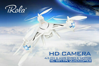 4.5 Ch 6 Axis Gyro 6 Motor 2.4ghz Rc Wifi Fpv Quadcopter With Hd Camera Hot US