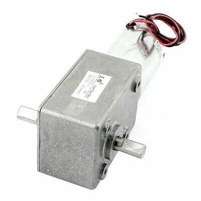 DC 12V 31RPM Dual Shafts High Torque Reversible Worm Gear Motor Speed Reducer