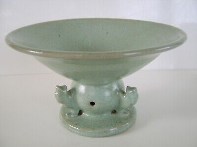 Early Good Sized Antique Chinese Celadon Type Bowl / Censer Crackle Glaze Rare