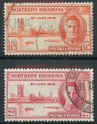 Northern Rhodesia 1946 Victory set SG 46-47 used *COMBINED SHIPPING*