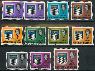 Northern Rhodesia 1963 Part set of 11 to 2s6d used *COMBINED SHIPPING*