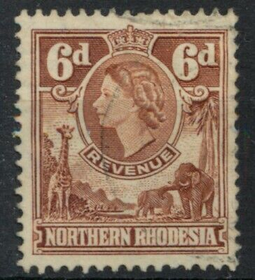 Northern Rhodesia 1955 Revenue 6d used *COMBINED SHIPPING*