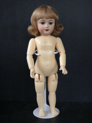 BLEUETTE Repro bisque doll. Mold SFBJ301 -Wig - Blue-grey eyes - Naked - FRANCE