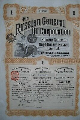 Russland: Russian General Oil Corporation  1913   1 Share