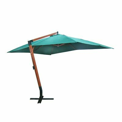vidaXL Floating Parasol Melia 300x400cm Green Cantilever Umbrella Sunshade