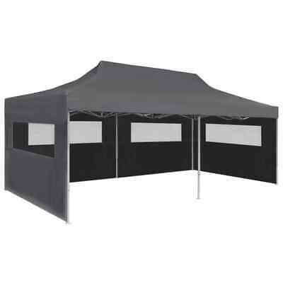 vidaXL Folding Pop-up Party Tent with Sidewalls 3x6m Anthracite Gazebo Marquee