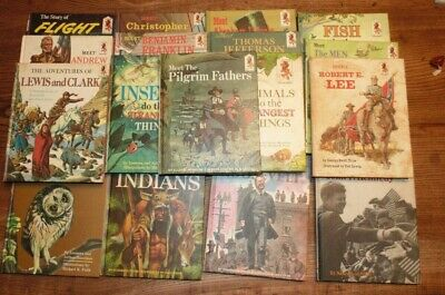 Lot of 17 1960's Step-Up Random House Books Children's History/Science Education