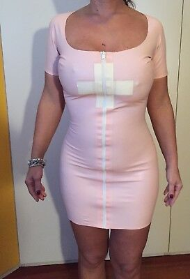 Light pink nurse dress from Skint Two