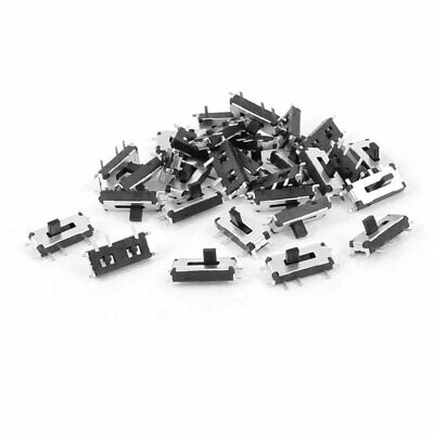 30 Pcs On/Off 2 Position 7 Pins 1P2T SPDT Vertical Mini SMD SMT Slide Switch