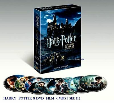 Harry Potter Complete 8-Film Collection from 2001-2011 English 8 DVD Discs set