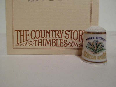 Franklin Mint Country Store Advertising Porcelain Thimble Three Thistle Snuff