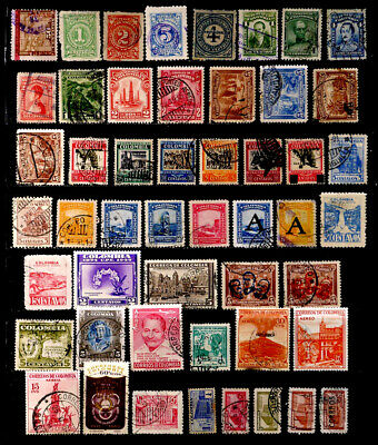 Colombia: Classic Era - 60's Stamp Collection 50 Different