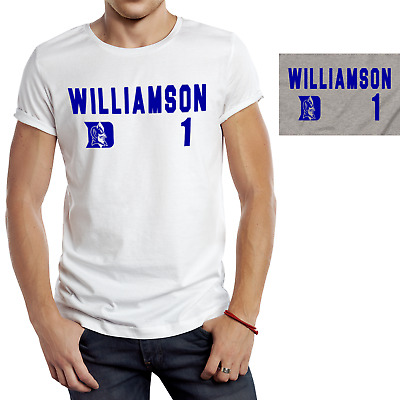 new style 7aef1 a0f88 Zion Williamson Duke Blue Devils White and Gray T Shirt March Madness NCAA  S-4XL