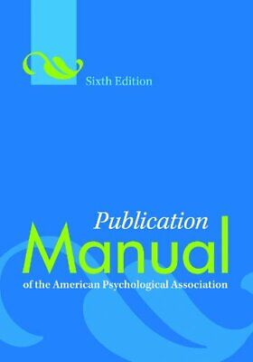 *P.DF* Publication Manual of the American Psychological Association, 6th Edition
