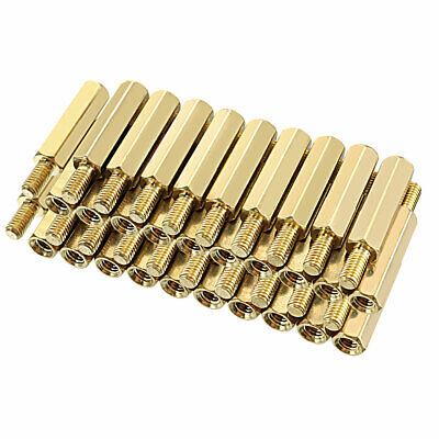 32pcs M3x18mm+6mm M//F Brass Hexagon Standoff Spacer Pillar for PCB Motherboard