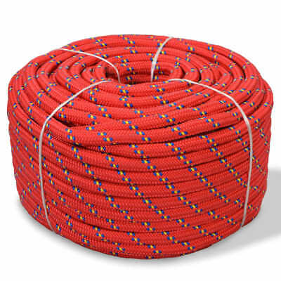 vidaXL Marine Rope Polypropylene 8mm 500m Red Anchor Dock Coil Boat Line Cable