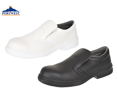 Portwest Slip On Safety Shoes Anti Slip Food Catering Chef Hospital Medical FW81