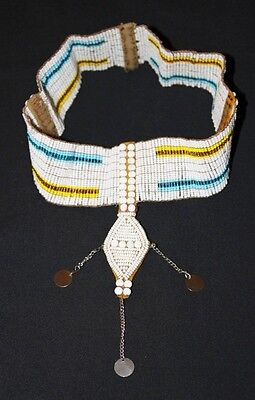 African Maasai Masai Beaded Ethnic Tribal Head Crown Tiara Jewelry - Tanzania 01