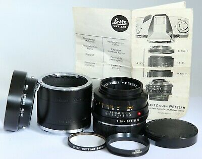 LEICA LEITZ SUMMICRON-R 50/2 50mm f2 R MOUNT 14139 EXTENSION MACRO TUBES/RINGS