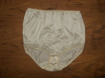 Vintage 1970s St Michael Stretchy Sheer Nylon Lacy Full Bum Panty Knickers M