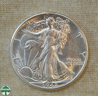 1942-P Walking Liberty Half Dollar - About Uncirculated Details