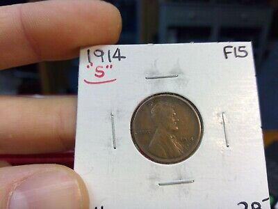 "1914-S Lincoln Cent Wheat Penny 1C Fine XF ++ Condition  ""Priced To Sell"""