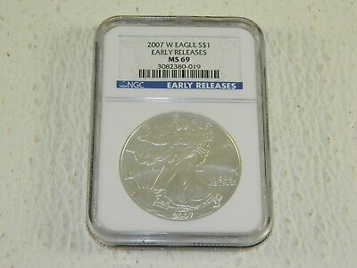 2007 W Eagle S$1- Early Releases - MS69 - NGC Certified