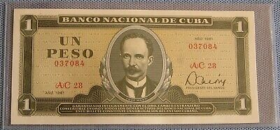 CUBA 1981 One Peso Bank Note (NEW - Uncirculated)